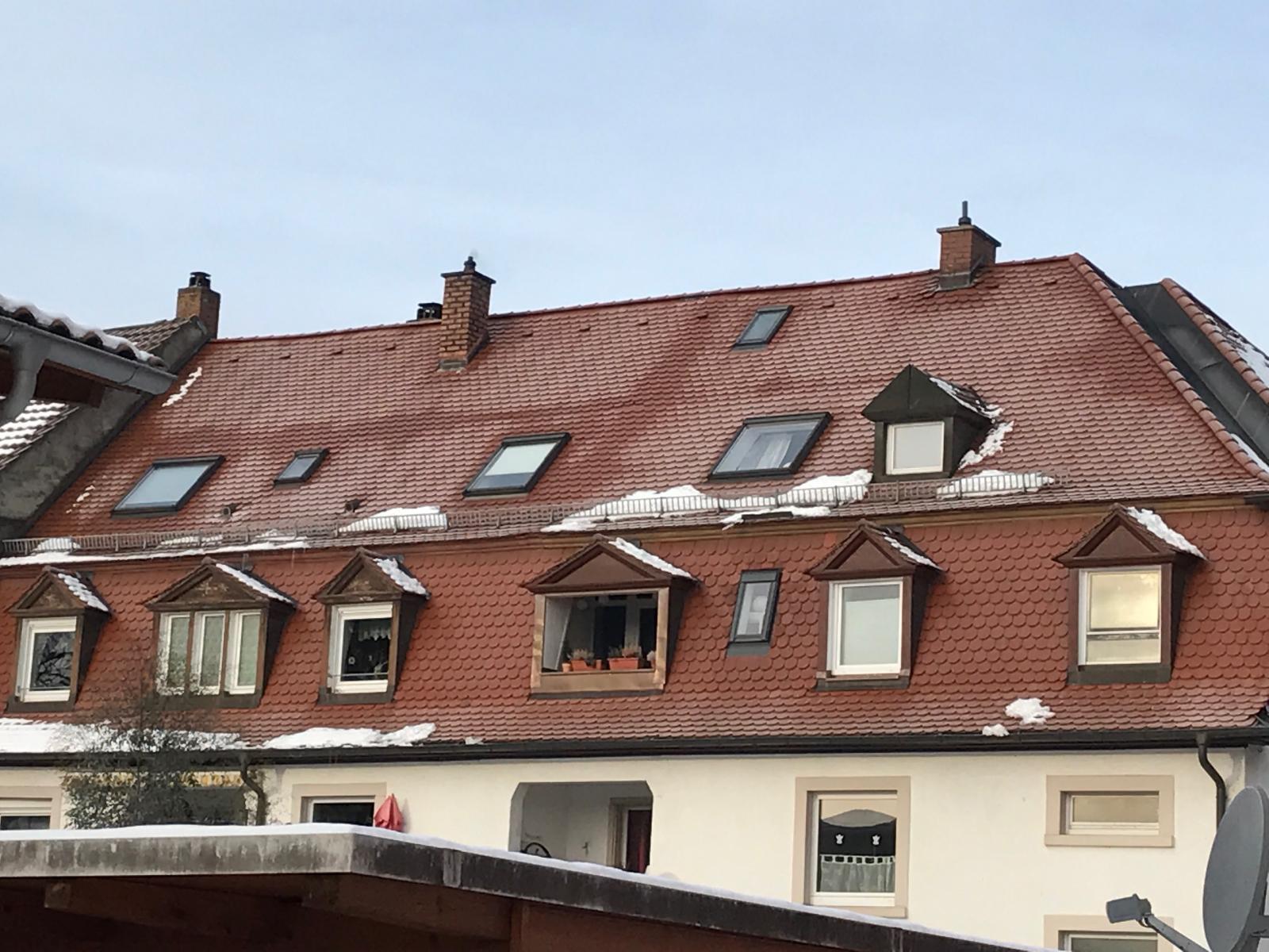 Dach mit Wärmebrücken