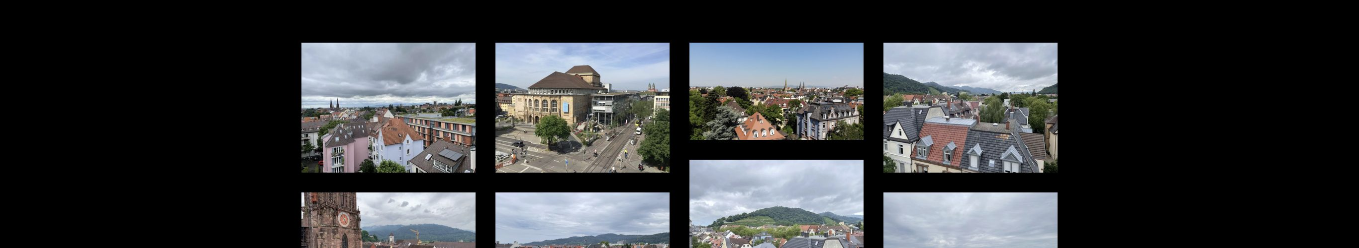 Webseite Freiburg von oben